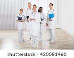 group of happy doctors and... | Shutterstock . vector #420081460