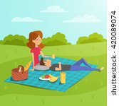 vector illustration of young... | Shutterstock .eps vector #420089074
