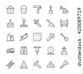 construction cool vector icons 2 | Shutterstock .eps vector #420089719
