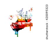 colorful music background with ... | Shutterstock .eps vector #420095323