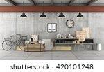 art workshop in industrial ... | Shutterstock . vector #420101248