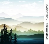 nature landscape  mountain... | Shutterstock .eps vector #420103090