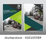 green triangle annual report...   Shutterstock .eps vector #420105589