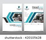 blue line technology annual...   Shutterstock .eps vector #420105628