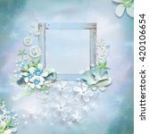 Floral Frame With Empty Space...