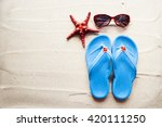 summer concept with beach... | Shutterstock . vector #420111250