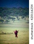 masai mara   october 02   young ... | Shutterstock . vector #420116254