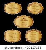 gold label cutout paper frames... | Shutterstock .eps vector #420117196