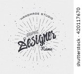 designer   insignia sticker can ... | Shutterstock . vector #420117670