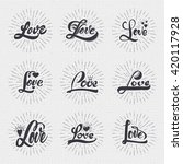 word love badge lettering of... | Shutterstock . vector #420117928