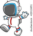 astronaut walking vector... | Shutterstock .eps vector #42011851