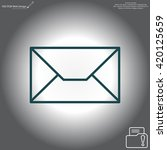 envelope mail icon. email... | Shutterstock .eps vector #420125659