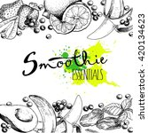 vector set of fruits and... | Shutterstock .eps vector #420134623