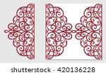 greeting card  laser cut pattern | Shutterstock .eps vector #420136228