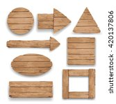 wood geometric boards and... | Shutterstock .eps vector #420137806
