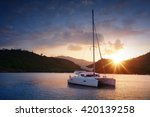 Yacht   Catamaran In The...