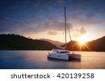 Yacht   Catamaran In The...