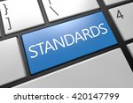 standards   keyboard 3d render... | Shutterstock . vector #420147799