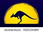 kangaroo jumping designed on...   Shutterstock .eps vector #420154384