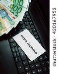 making money online. internet...   Shutterstock . vector #420167953