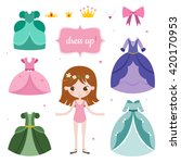 illustration of princess with... | Shutterstock .eps vector #420170953