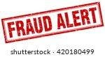 fraud alert red grunge square... | Shutterstock .eps vector #420180499