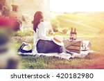 summer day in tuscany and... | Shutterstock . vector #420182980