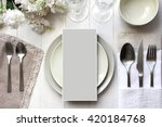 table place  reserve card  menu ... | Shutterstock . vector #420184768