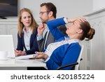Dissatisfied Businesswoman On ...