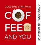 smile face of breakfast icons... | Shutterstock .eps vector #420190570