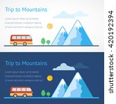 trip to mountains. road trip.... | Shutterstock .eps vector #420192394