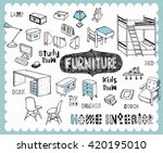 illustration with furniture for ... | Shutterstock .eps vector #420195010