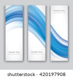 design set of vertical modern... | Shutterstock .eps vector #420197908