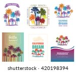 exotic travel background with... | Shutterstock .eps vector #420198394