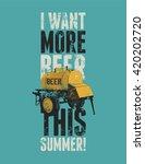 beer phrase typographic vintage ... | Shutterstock .eps vector #420202720
