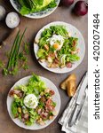 Fresh Salad With Poached Egg ...