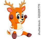 illustration of cute deer... | Shutterstock .eps vector #420209770