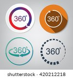 set vector of 360 degrees view... | Shutterstock .eps vector #420212218