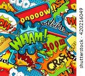 multicolored comics speech...   Shutterstock .eps vector #420216049
