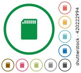 set of sd memory card color...