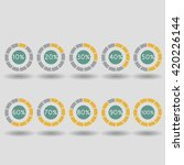 business infographic icons pie... | Shutterstock .eps vector #420226144