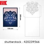 vector laser cut envelope... | Shutterstock .eps vector #420239566