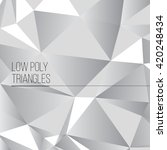 low poly triangles | Shutterstock .eps vector #420248434