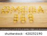 omega 3 6 9 fish oil yellow... | Shutterstock . vector #420252190