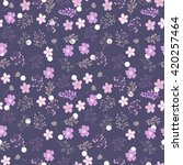 seamless herbal vintage pattern ... | Shutterstock .eps vector #420257464