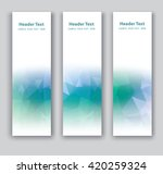 abstract vector vertical banner.... | Shutterstock .eps vector #420259324