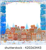 merry  christmas and new year... | Shutterstock . vector #420263443