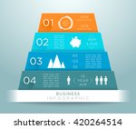 infographic 3d pyramid numbers... | Shutterstock .eps vector #420264514