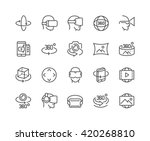 simple set of 360 degree image... | Shutterstock .eps vector #420268810