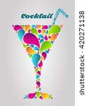 cocktail. drink poster. summer... | Shutterstock .eps vector #420271138